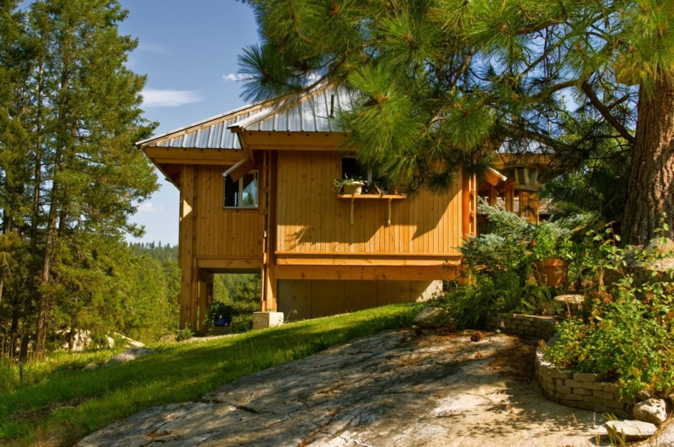 Quietude, a 300 sq ft tiny house with sleeping loft   www.facebook.com/SmallHouseBliss