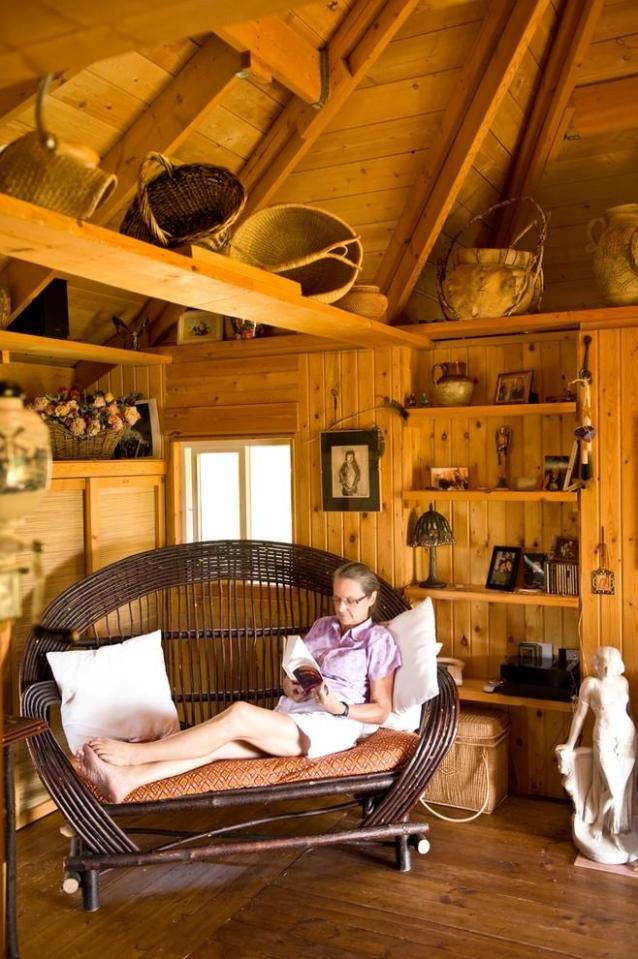 Quietude, a 300 sq ft tiny house with sleeping loft | www.facebook.com/SmallHouseBliss