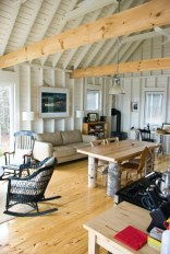 An owner-built cottage on Cape Breton Island with traditional and contemporary details. It has two bedrooms in 768 sq ft. | www.facebook.com/SmallHouseBliss