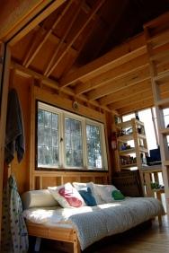 Tiny rustic cabin, interior
