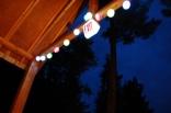 Tiny rustic cabin, solar deck lights