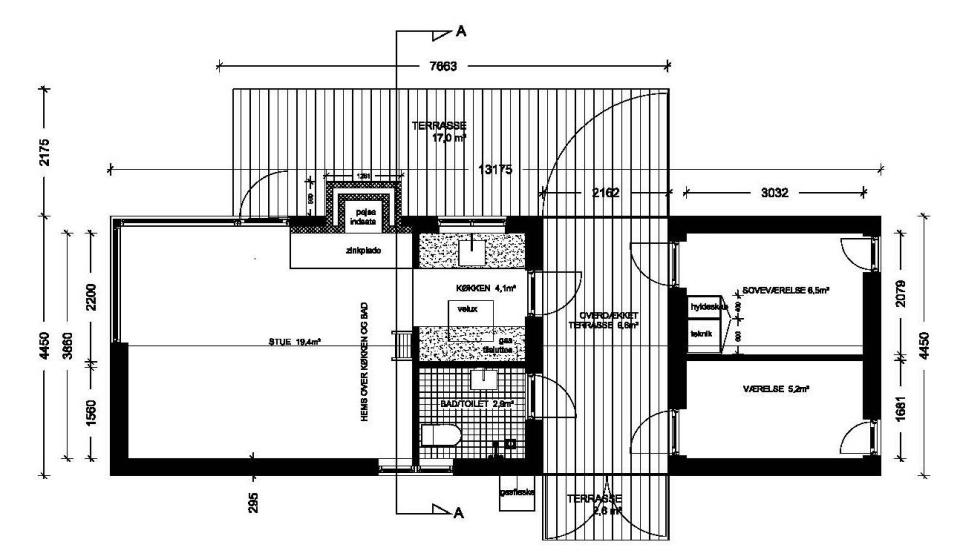 The Længehuset, a modular vacation house from Denmark with 2 bedrooms in 592 sq ft. | www.facebook.com/SmallHouseBliss