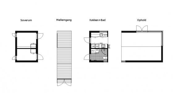 Møn Huset Længehuset 55, module example
