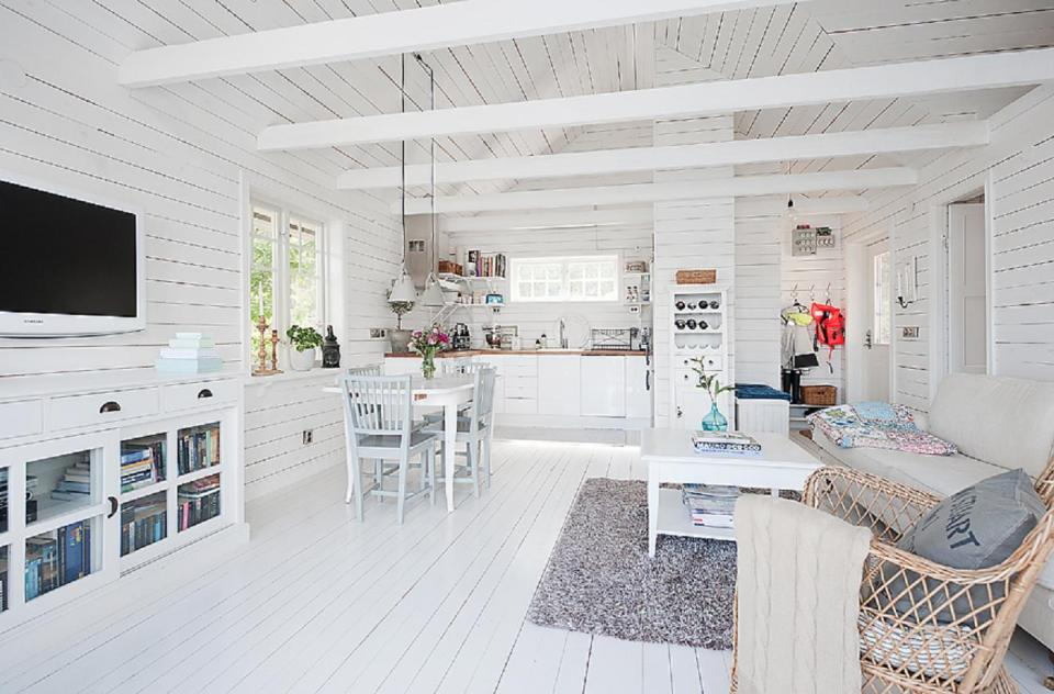 A small cottage in Sweden with 1 bedroom and sleeping loft in 538 sq ft. | www.facebook.com/SmallHouseBliss