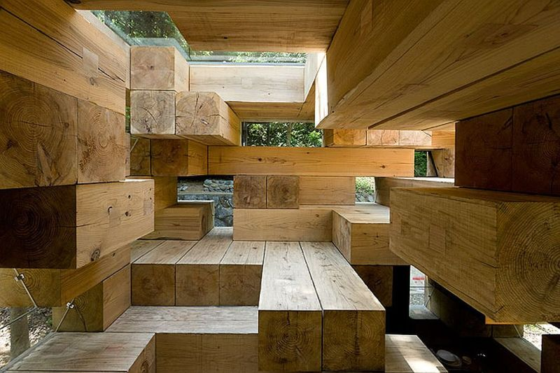 wood house architecture