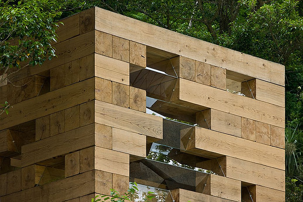 Weekend fun final wooden house sou fujimoto small for Architecture wood