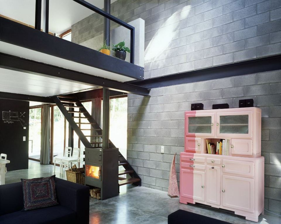 A small modern house in the woods with an urban loft design. | www.facebook.com/SmallHouseBliss