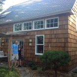 This shingled backyard cottage has 1 bedroom and a small office in 799 sq ft. | www.facebook.com/SmallHouseBliss