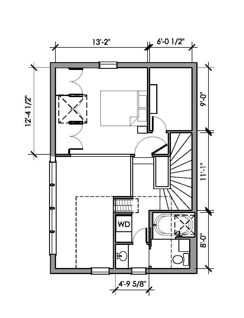 Gallery a shingled backyard cottage studio eccos design for Studio floor plans