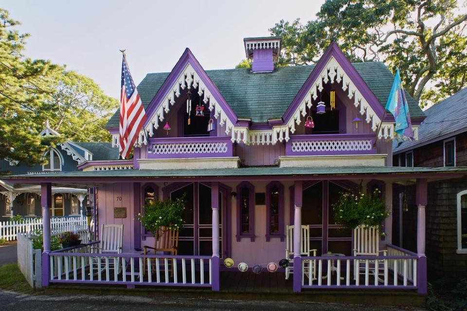 Cottage at Wesleyan Grove, a historic community on Martha's Vineyard. | www.facebook.com/SmallHouseBliss
