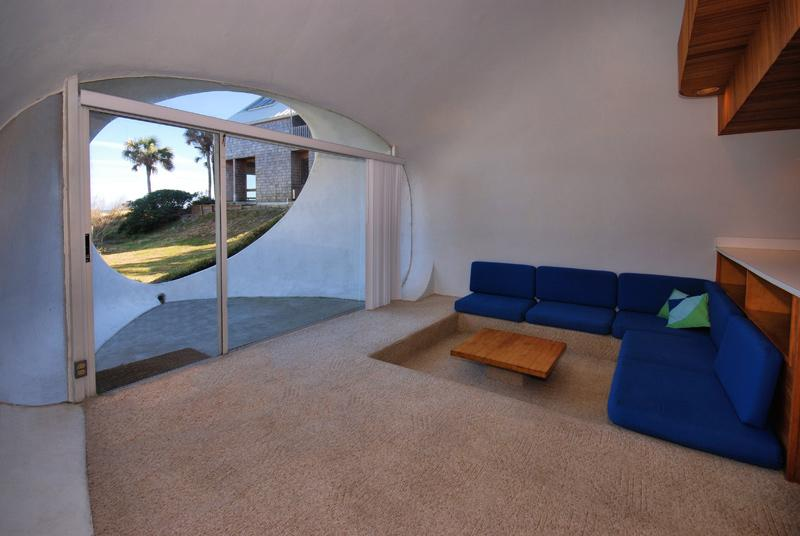 The Dune House, an earth-sheltered duplex. Each unit has 1 bedroom in 750 sq ft.   www.facebook.com/SmallHouseBliss
