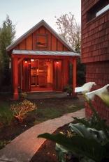 Karen's backyard cottage has 265 sq ft of living space plus a sleeping loft. | www.facebook.com/SmallHouseBliss