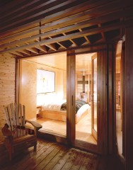 "Sunset Cabin, a 275 sq ft studio cabin, is a refined version of the traditional cottage country ""bunkie"". 
