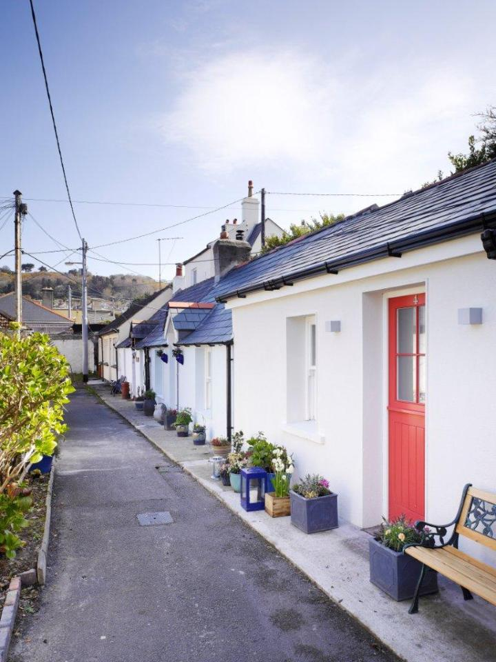 A restored 1830's fisherman's cottage in Ireland. It has only 270 sq ft on the ground floor plus a loft bedroom. | www.facebook.com/SmallHouseBliss
