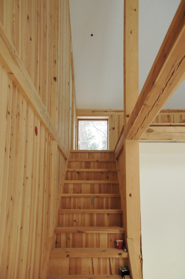 Gunnar's House, a small timber frame forest home in Norway. It has 2 bedrooms in 915 sq ft. | www.facebook.com/SmallHouseBliss