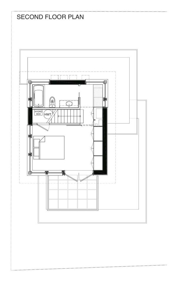 Gallery net zero solar laneway house by lanefab design for Net zero home plans
