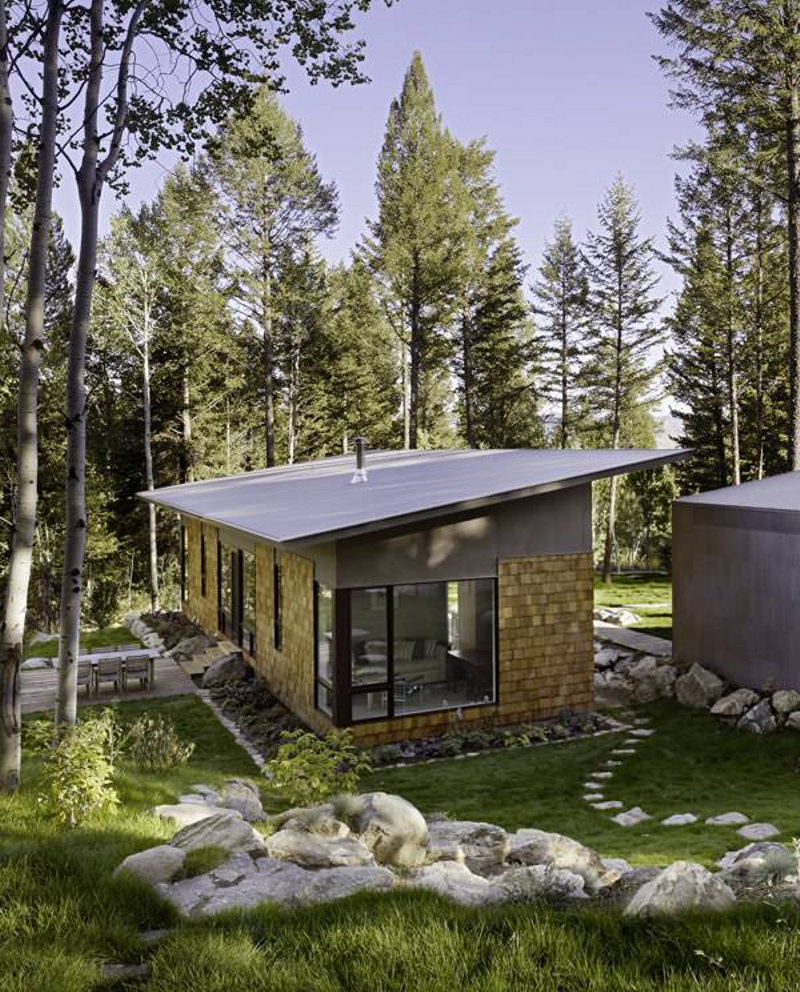 Fish creek guest house carney logan burke small house for Simple modern tiny house