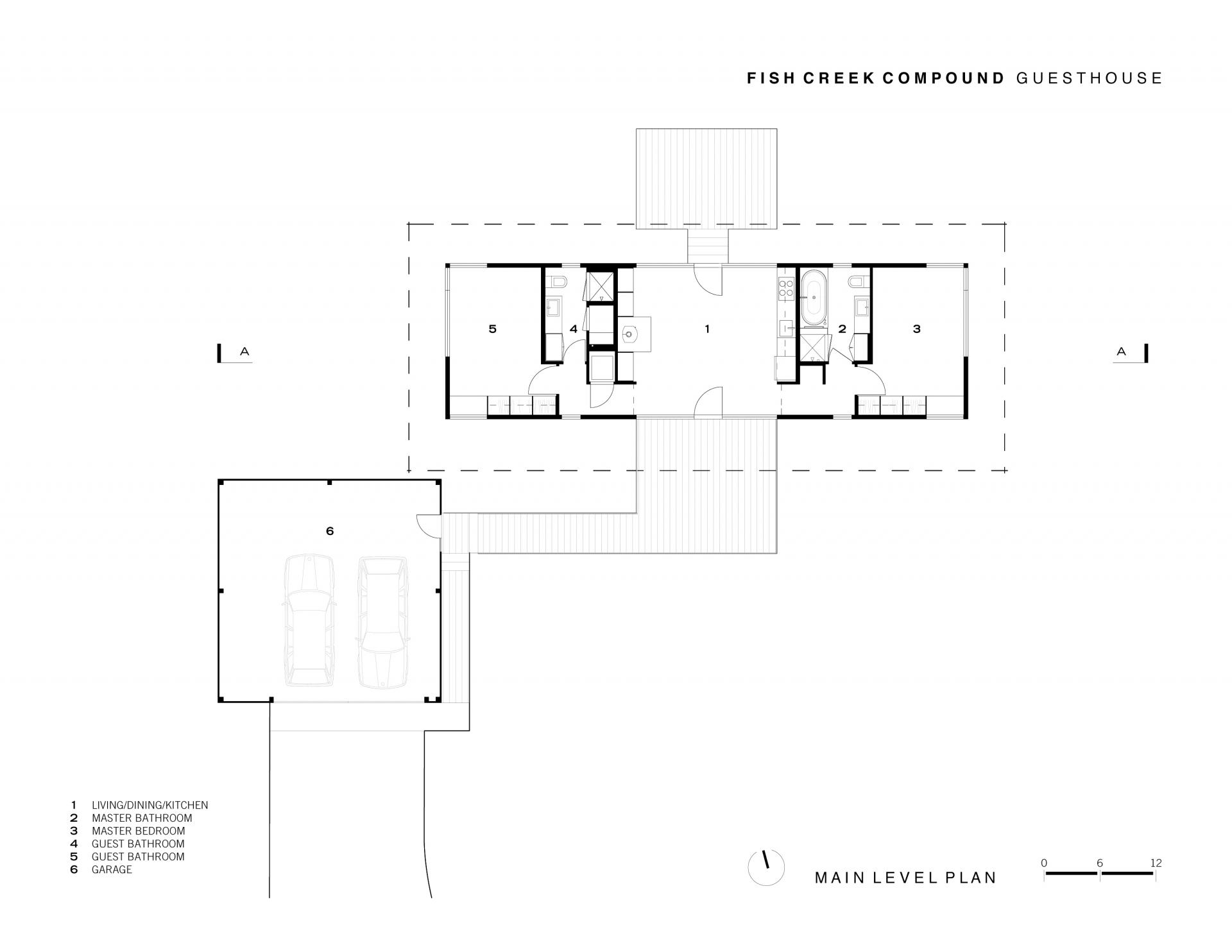 Gallery fish creek guest house carney logan burke for Fish house floor plans