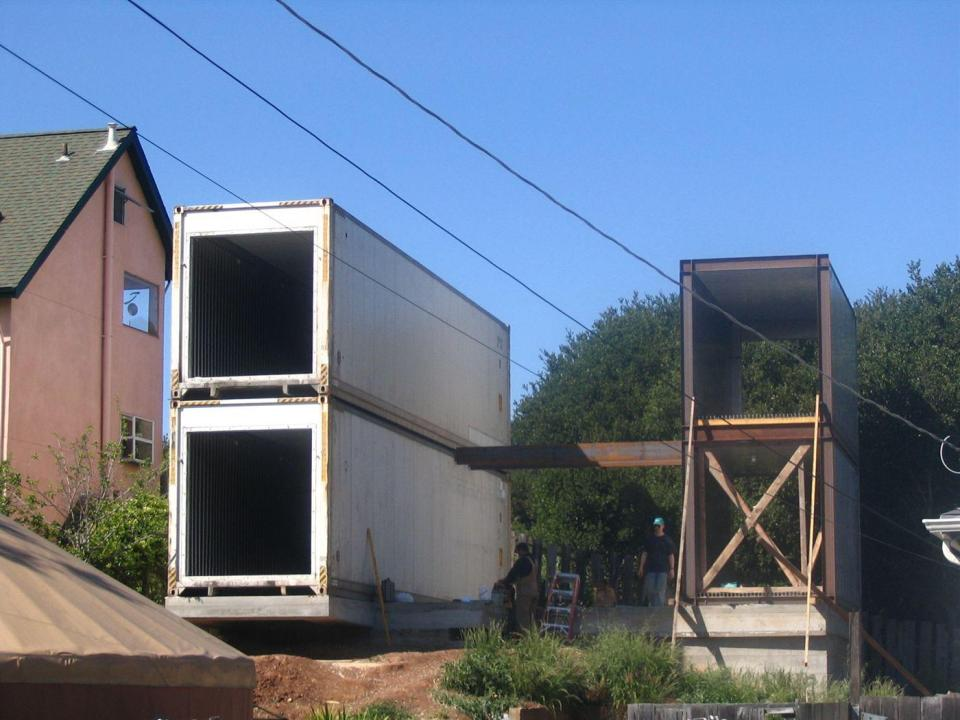 A contemporary family house built from three shipping containers. It has3 bedrooms in 1,350 sq ft. | www.facebook.com/SmallHouseBliss