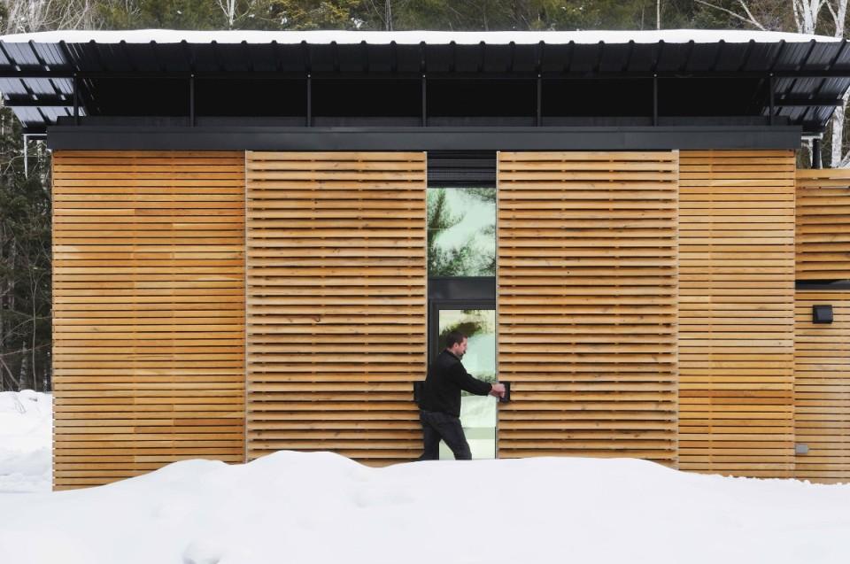 The E.D.G.E., a small prefab house with 358 sq ft main floor plus 2 loft bedrooms. | www.facebook.com/SmallHouseBliss