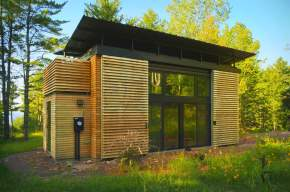 The E.D.G.E., a small prefab house with 358 sq ft main floor plus 2 loft bedrooms. | www.facebook.com/SmallHouseBliss