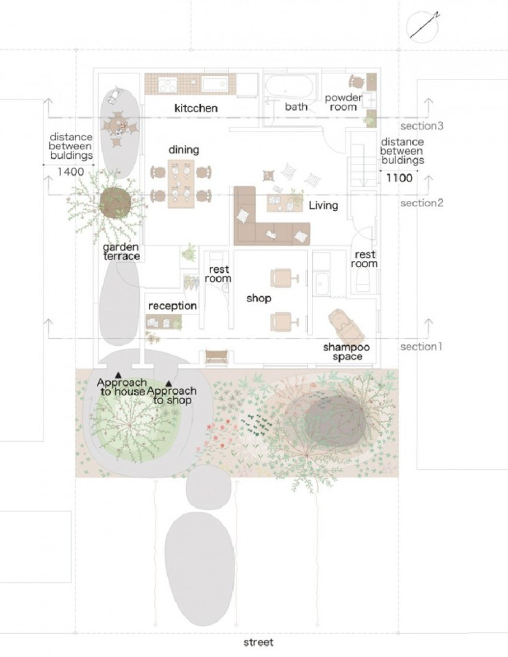Montblanc House by Studio Velocity, ground floor plan