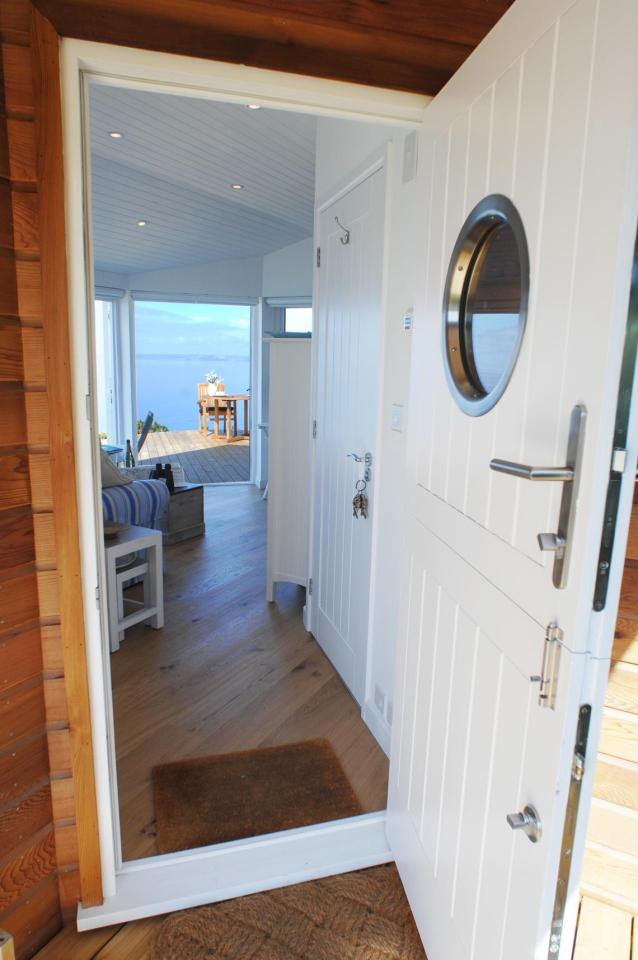 The Edge, a tiny one-bedroom beach cottage in Cornwall.   www.facebook.com/SmallHouseBliss