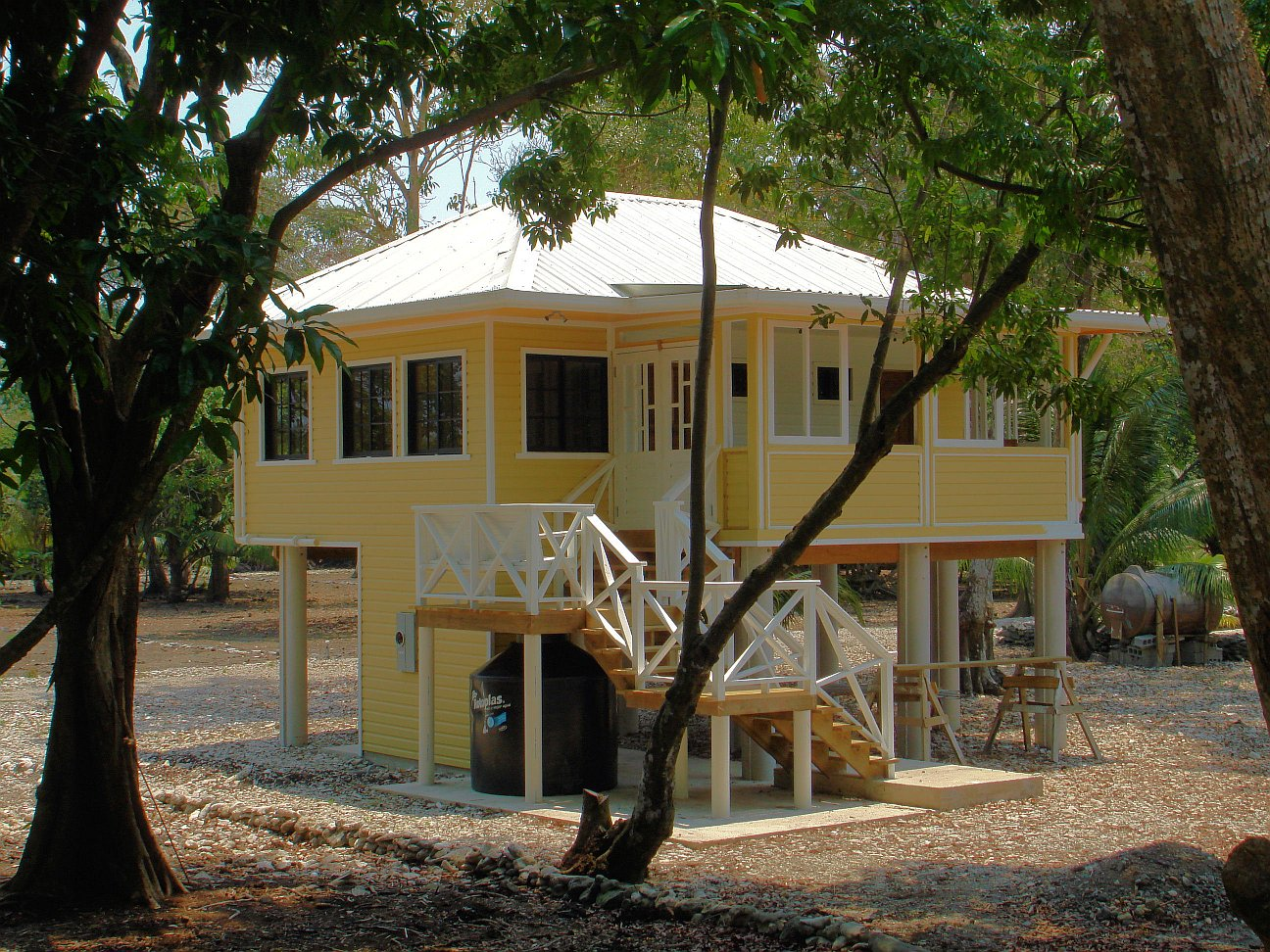 Gallery a small beach house on a caribbean island small for Beach cottage house plans