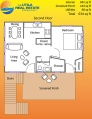 floor plan of small beach house in the Caribbean