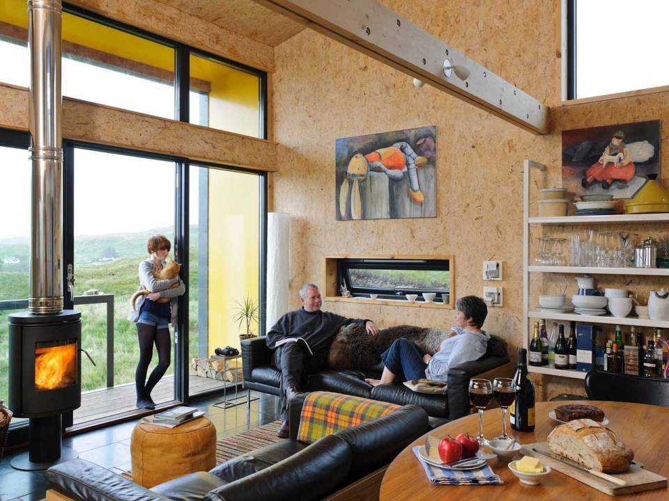 The Hen House on the Isle of Skye, a low-impact modern cottage with one bedroom plus loft in 775 sq ft. | www.facebook.com/SmallHouseBliss