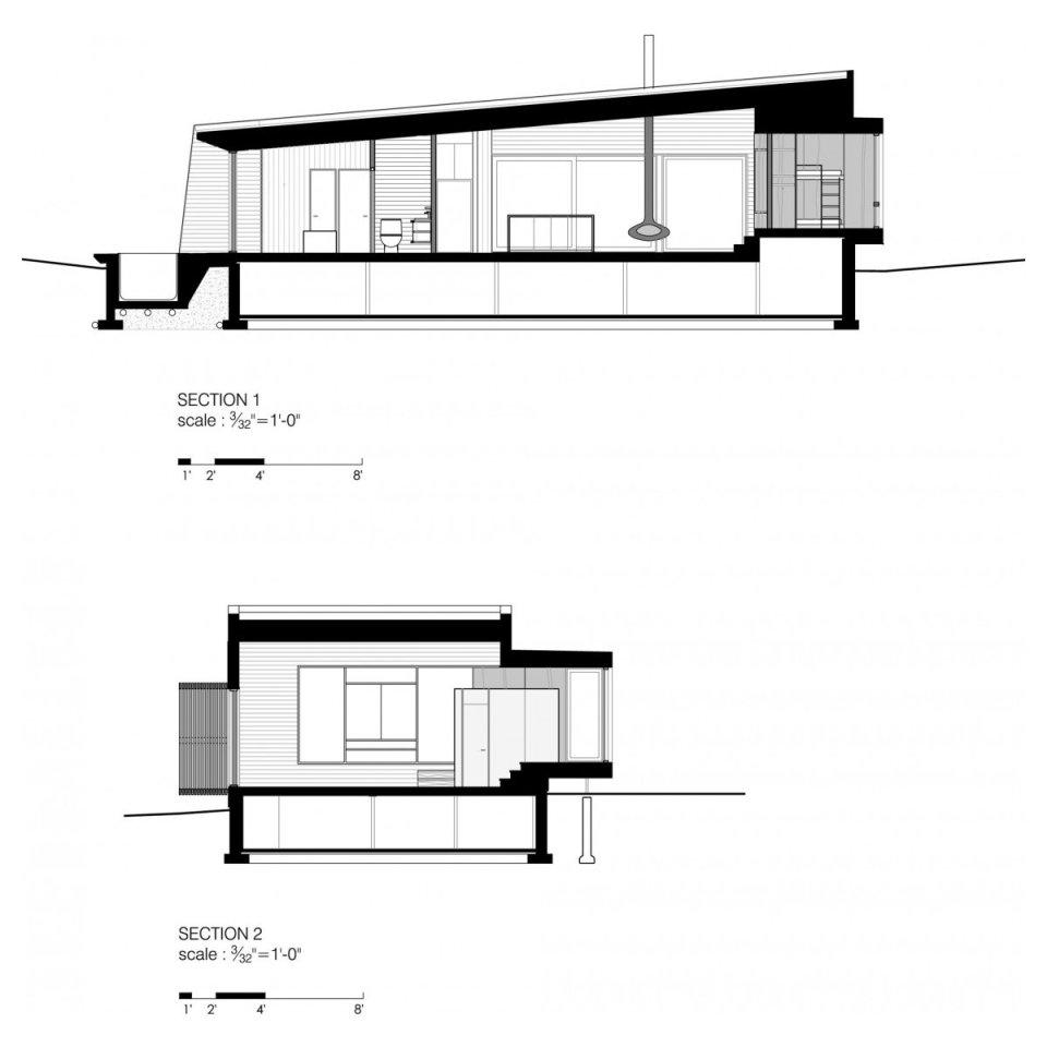 La Luge, a modern ski cabin in Quebec.   www.facebook.com/SmallHouseBliss