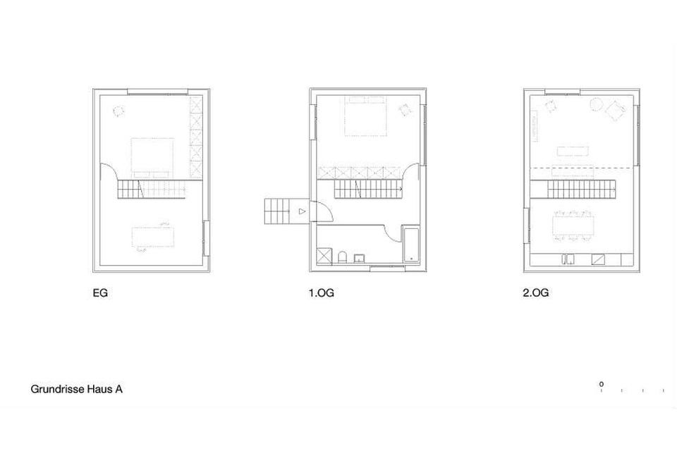 floor plans of Zwei Kleine Häuser by Architekturbüro Scheder