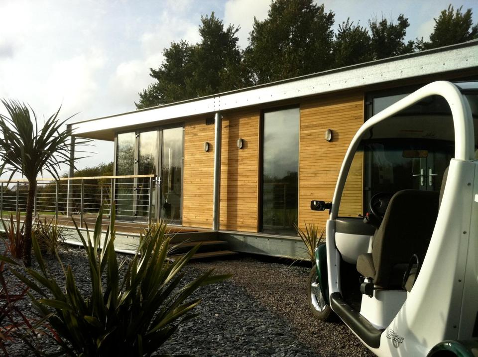 The Edge, a modern modular dwelling with 2 bedrooms in under 900 sq ft.   www.facebook.com/SmallHouseBliss