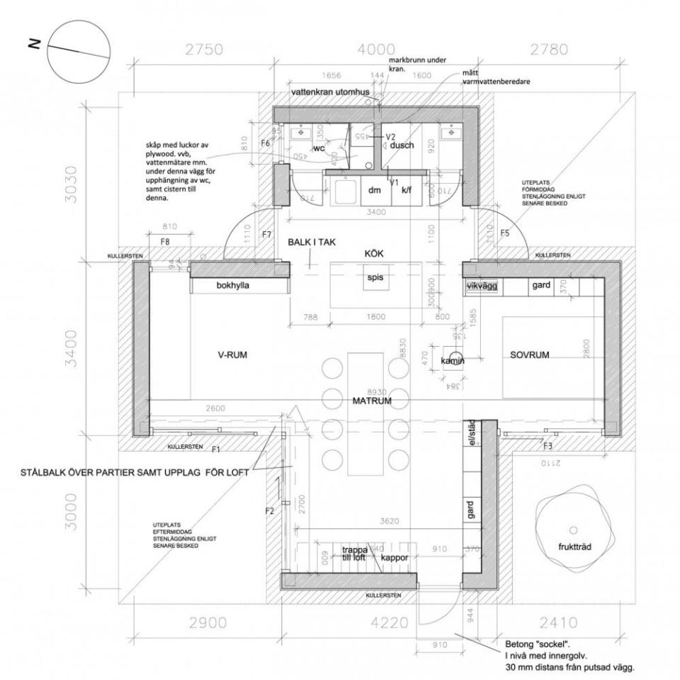 Floor plan of Palladio i Strandbaden by DinellJohansson