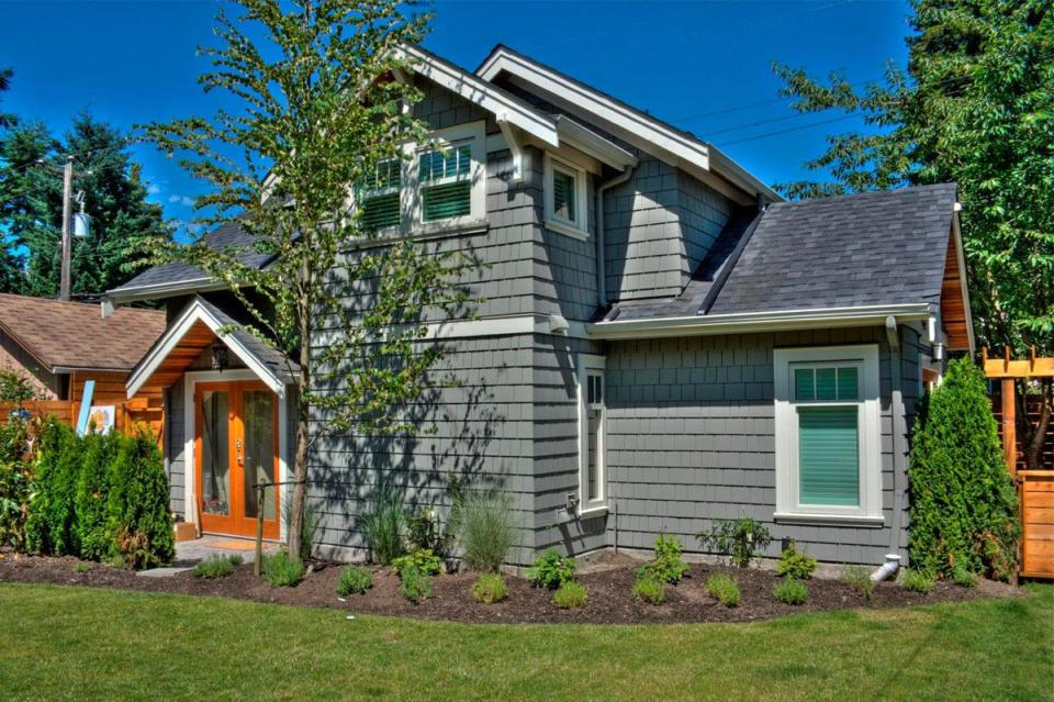 A Craftsman-style laneway house with two bedrooms. | www.facebook.com/SmallHouseBliss