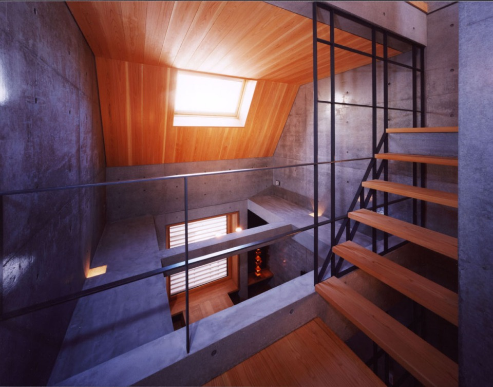 """Seven"", a multilevel urban house built on land previously used as a parking spot. It has one bedroom in 735 sq ft. 