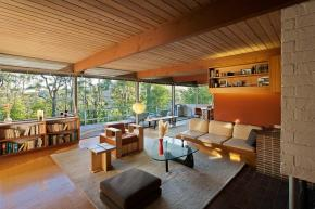 The Hailey Residence, a small mid-century modern house in Hollywood by architect Richard Neutra. | www.facebook.com/SmallHouseBliss