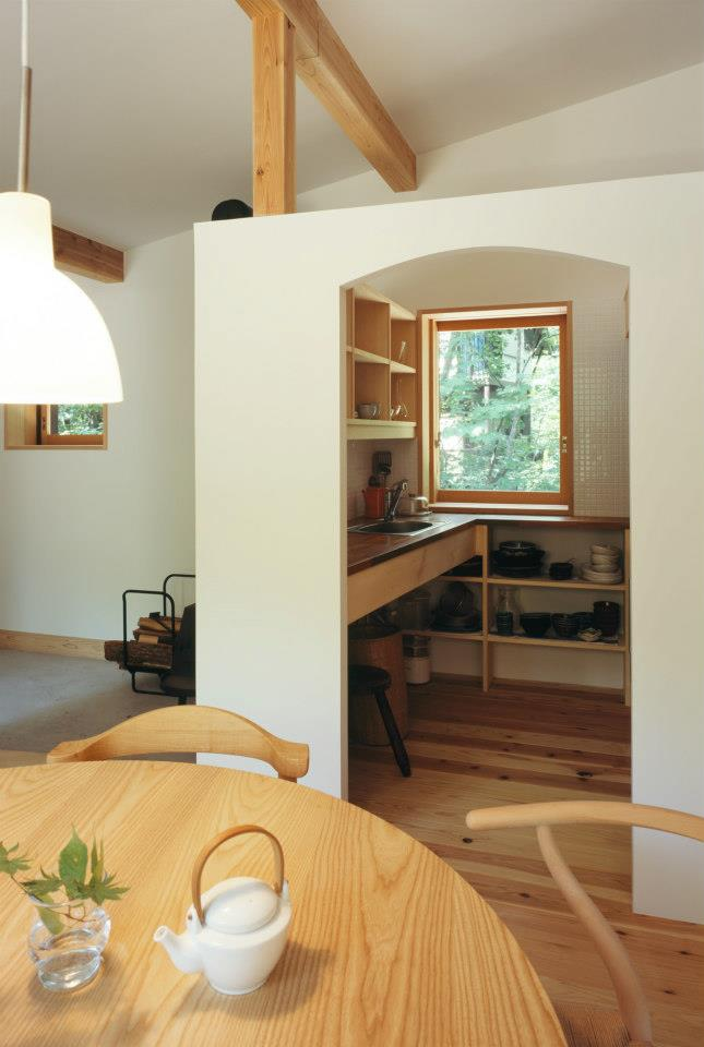 Habuka mountain retreat, a small timber-framed ski cabin in the Japanese Alps. It has 1 bedroom and a loft in 590 sq ft. | www.facebook.com/SmallHouseBliss