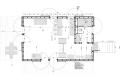 floor plan of VolgaDacha, a small vacation house by Bureau BERNASKONI