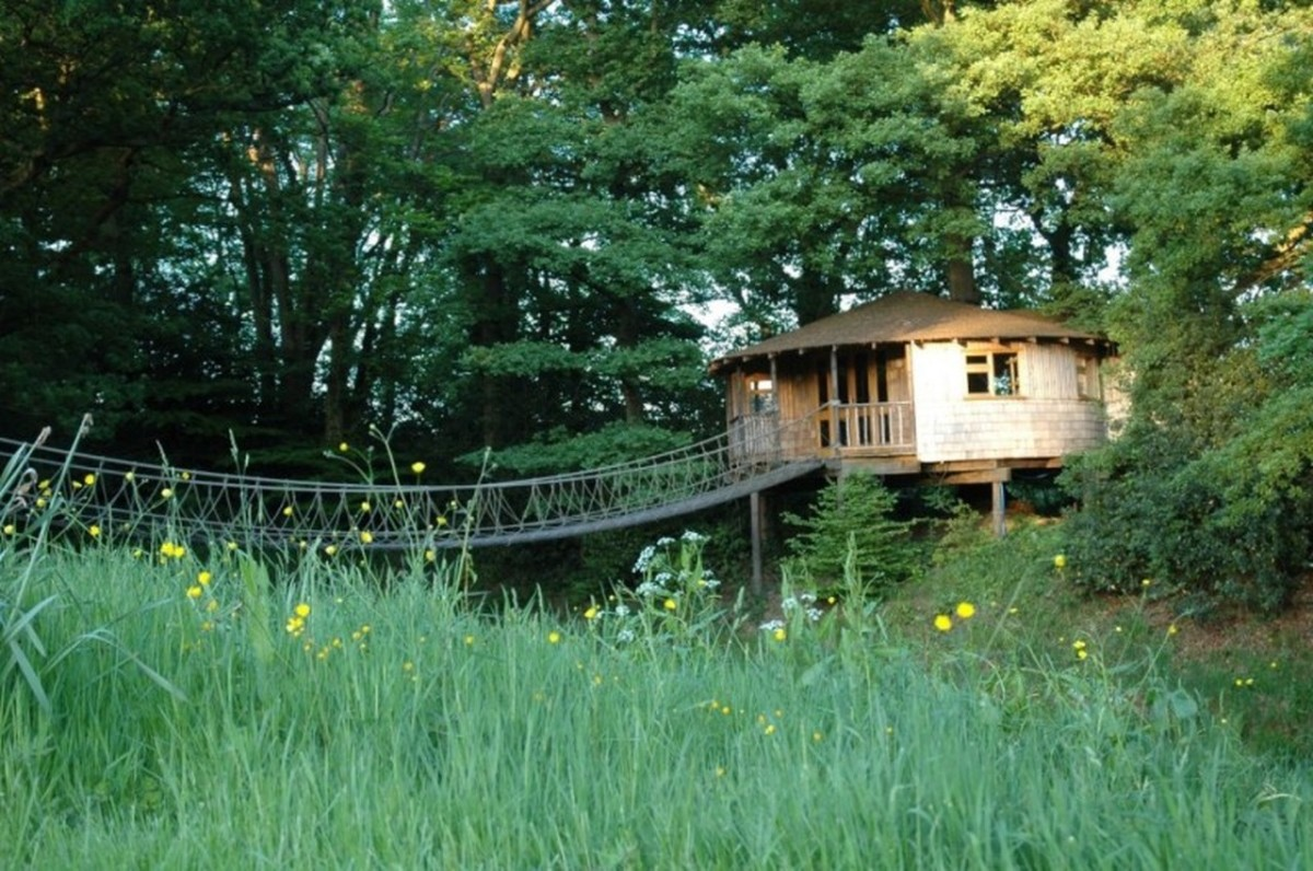The bensfield treehouse blue forest small house bliss for Small tree house
