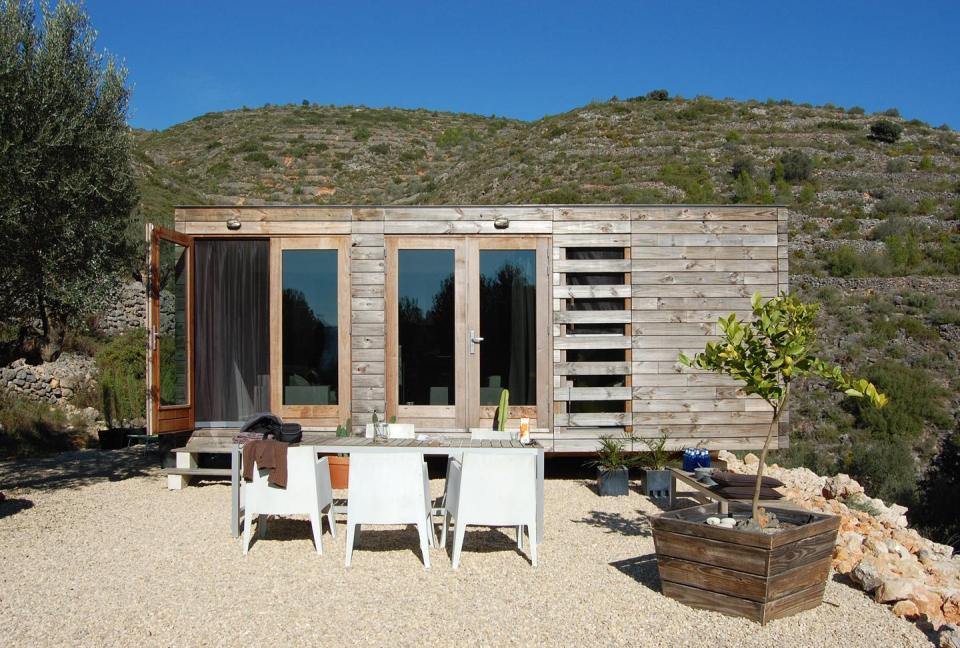 A prototype prefab house in Spain with two bedrooms in 550 sq ft. | www.facebook.com/SmallHouseBliss