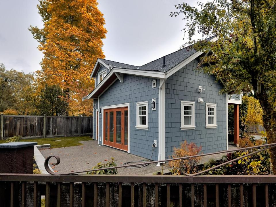 The Arbutus, a laneway house with two bedrooms and two full baths in just 750 sq ft. | www.facebook.com/SmallHouseBliss