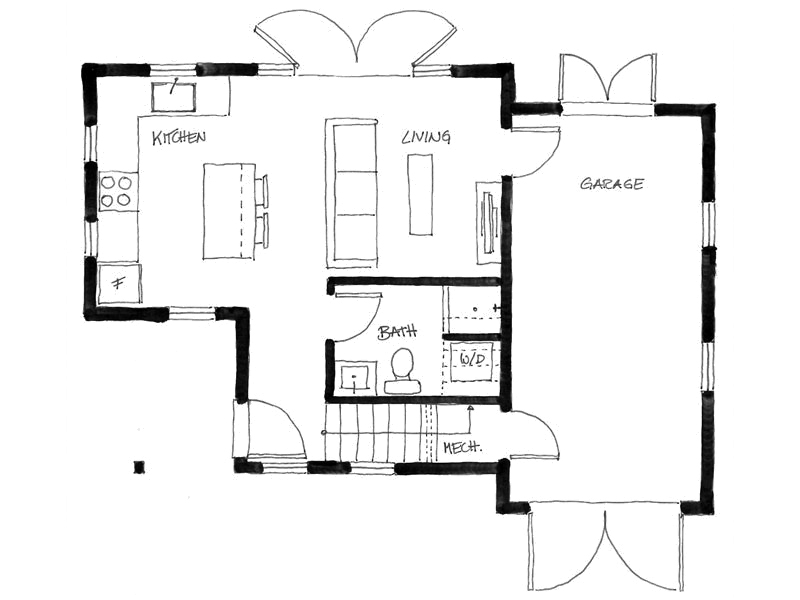 Gallery the arbutus laneway house smallworks small for Best small house plans ever