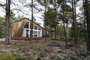 Modern cabins at the Hölick Sea Resort