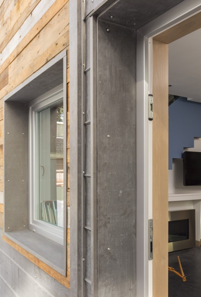 The Diagon Alley passive house combines modern design and a super-insulated building envelope. It has two bedrooms in 650 sq ft. | www.facebook.com/SmallHouseBliss