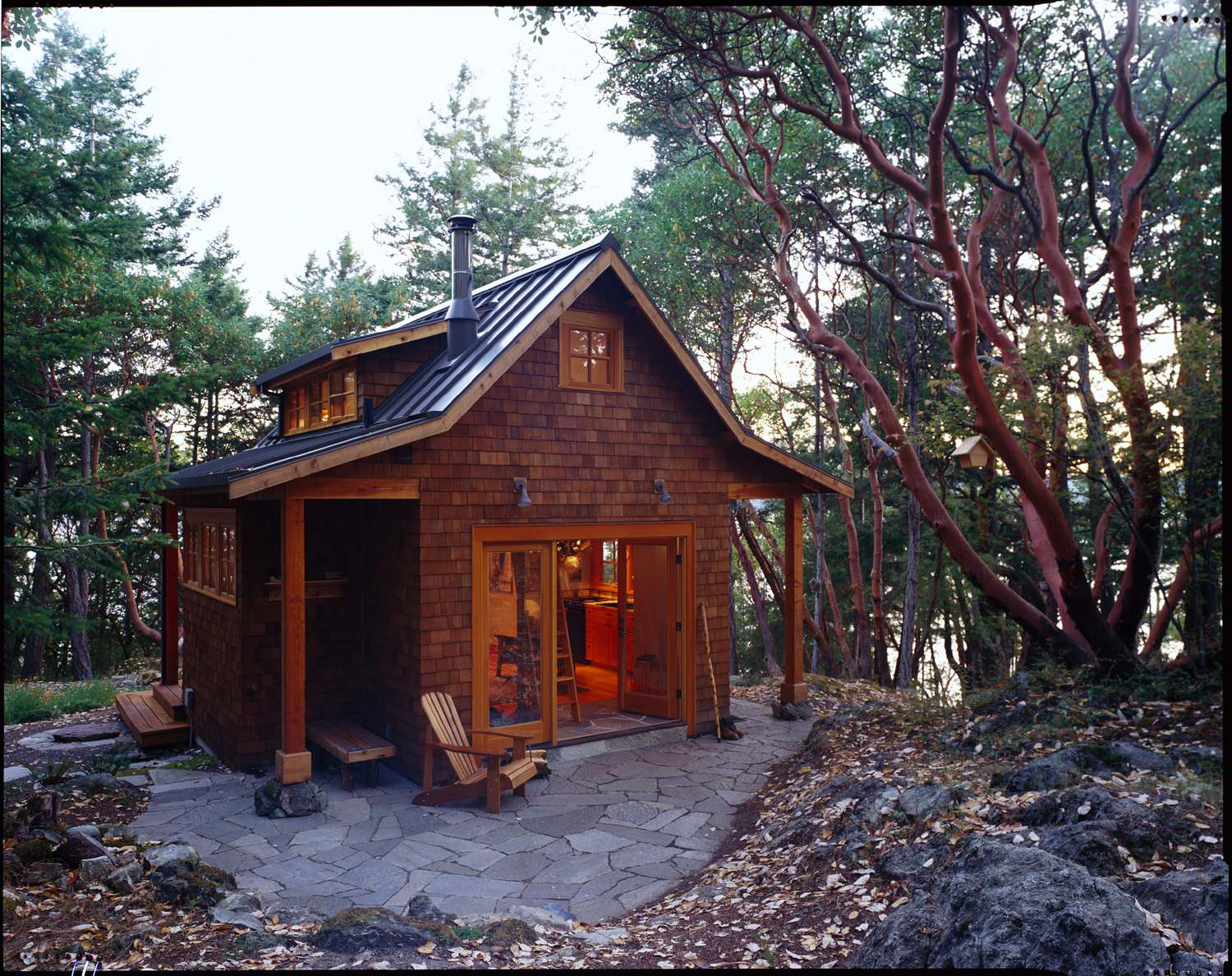 Gallery orcas island cabin david vandervort architects for The lookout tiny house