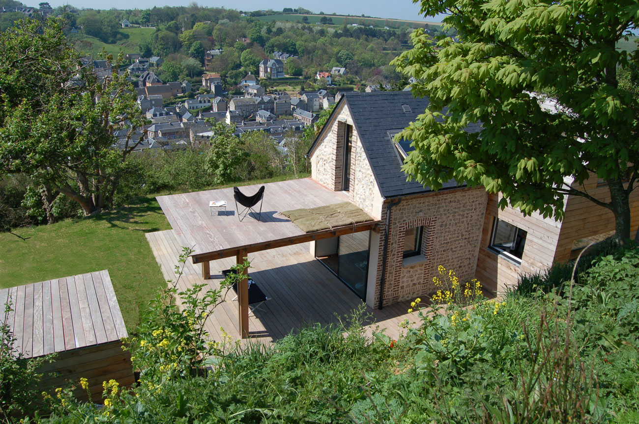 A tiny stone cottage brought back to life in Normandy