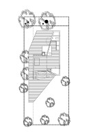 floor plan of the tiny Poplar Garden House by Onix