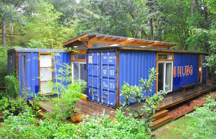 The savannah project an artist s container home and studio julio garcia small house bliss - Foundations for shipping container home ...