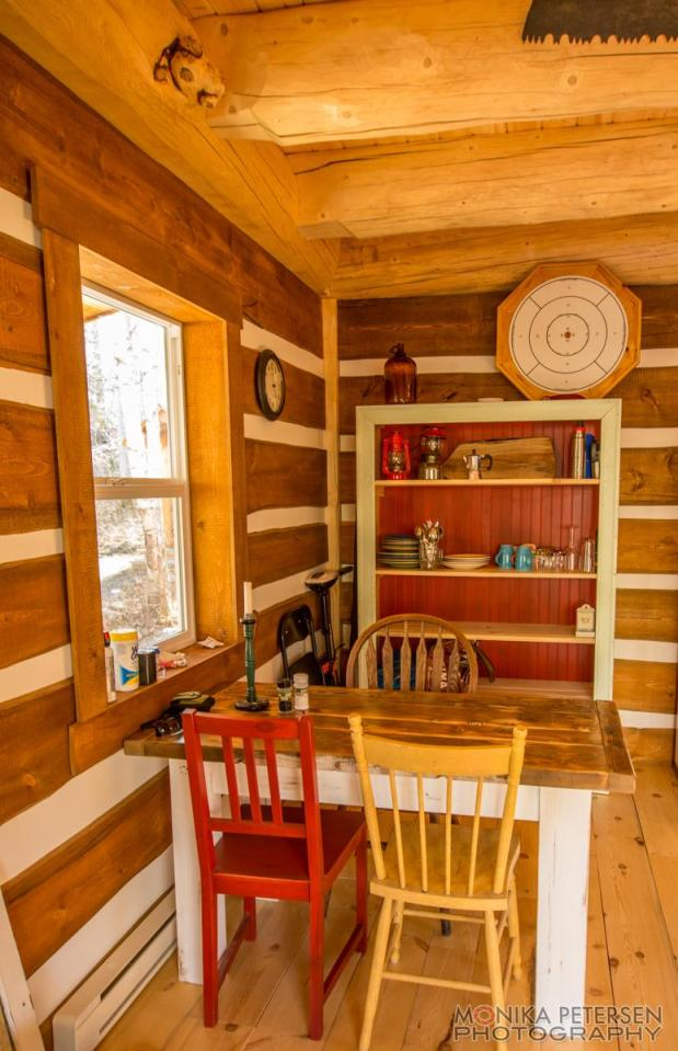 A small post and beam cabin in the woods of British Columbia. It has a 320 sq ft ground floor plus a loft.   www.facebook.com/SmallHouseBliss